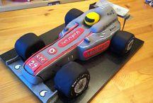 racecar cakes