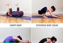 Ejercicios de estiramiento y yoga