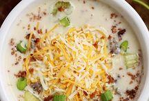 Soups in crock pot