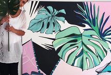 Monstera Love | Handpainted Panel / Botanical Inspiration