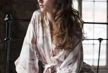 Bridal & Honeymoon Loungewear / Honeymoon getaway? Take a look at these beautiful kimonos by Violet & Wren.