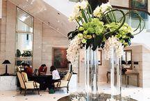 lobby flowers arrangement