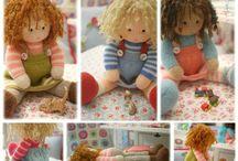 """DOLLS from the TEAROOM / 14"""" TEAROOM Doll Knitting Pattern.... (4 variations)"""