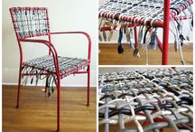 Upcycled cable furniture