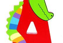 Lettera in Legno Animali per Giocare e decorare