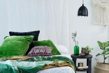 Master bedroom inspiration / Calm shabby chic tropical