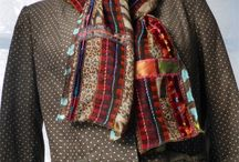 handmade scarves by McAnaraks / I make these scarves from my extensive fabric collection