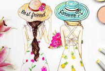 girls best friens forever draw