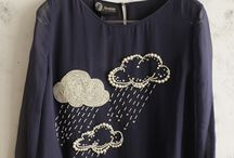 Облака вышивка