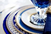 Blue and white China with a twist.