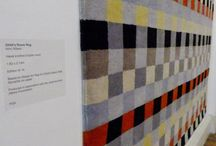 Form Through Colour / Form Through Colour exhibition at Somerset House, 2014. Textiles, rugs, Anni Albers, Josef Albers, Gary Hume, Christopher Farr.