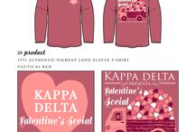 Valentines / Greek sorority and fraternity custom shirt designs featuring Valentine's day themes. For more information on screen printing or to get a proof for your next shirt order, visit www.jcgapparel.com