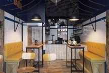 "Дизайн-проект кафе ""Море и Вафли"""