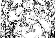 Woodburning Christmas