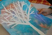 trabajos de plástica de invierno