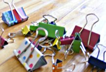 Crafts: Binder clips