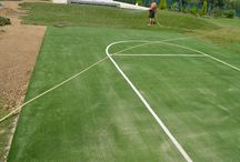 basketball court / basketball court landscaped with synthetic turf multisport 20 mm