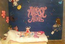 """chambre fille """"Aline au pays des merveilles"""" / peinture decorative murale a l acrylique"""