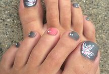 Nail toe art