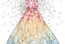 kreeslené šaty