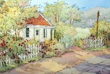 Artist: Joyce & Julie / Watercolors and oils by 2 of my favorite contemporary artists:  Joyce Hicks & Julie Gilbert Pollard