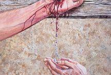 Malarstwo: obmycie krwią