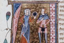 Medieval frilled headwear