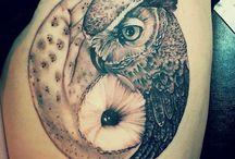 フクロウのタトゥーデザイン