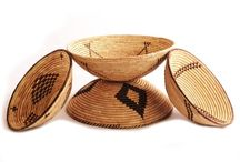 Beautiful Bowls / beautiful hand-woven bowl baskets - all with natural dyes