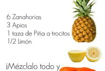 Zumos frutas. verduras batidos para las enfermedades