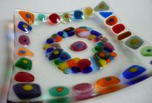 workshops- fused glass / Ergebnisse aus workshops: Tolle Sachen aus geschmolzenem Glas. Von Kindern und Erwachsenen