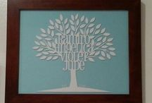 Paper cutting Family Trees