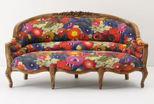 decor :: the most beautiful couch in the world / i have an unhealthy obsession with couches, especially brightly colored and printed couches...  / by Daughter Earth
