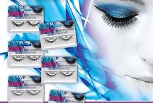 "Ardell 'Spiky' Lash Collection / Spiky lashes have alternating lengths with laser fine tips to create a stand out lash look. Recreates the lash look popularized by makeup artists for magazine spreads and runway.  Ardell Spiky ""Lashes with attitude,"" available in style 385, 386, 387, 388, 389, 390.  http://www.madamemadeline.com/online_shoppe/products.asp?cat=Ardell+Spiky+Lashes+Collection"