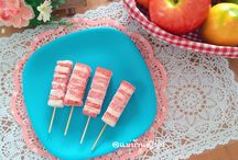 Fruits ice  stick idea