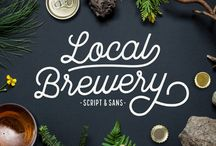 Local Brewery / Local Brewery is a vintage inspired font collection that includes six script styles and two sans serif styles. Script styles include a ripple edged, smooth or rough version. The sans serif styles include a ripple edged or rough version.