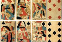 Gambling and cards (fortunetelling, playing decks, etc.) - 1880s or earlier / It's all in the cards, folks...