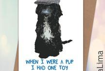 Lima Lima Pet Related Birthday & Celebration Cards / Pet related handmade celebration gift cards