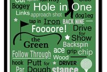 The golf-room man-cave / A first for us, charged with decorating a man-cave with a golf theme...complete with putting green!