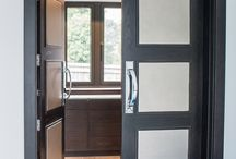 Leather Panelled Doors