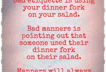 Polish Your Manners / Our moms taught us all the right things to do but sometimes we just need a little reminder!