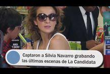 Captaron a Silvia Navarro grabando las últimas escenas de La Candidata