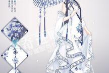 japán ruha rajzolt