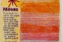 Bible Journalling / I paint in my Bible. Follow my progress as I learn scripture by painting.