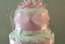 crown diaper cake