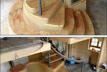 Kályha lépcsővel