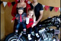 Eli's retro motorcyle party / Our little guy's 1st birthday!