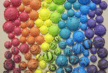 """Exhibition """"CHIAKI FUJIHARA"""" / """"Em teoria a arte abstracta tende a suprimir a relação entre a obra e a realidade, entre planos e linhas, entre significados e cores, todavia a arte da artista japonesa Chiaki Fujihara contraria este conceito académico. Na obra """"Little by Little"""", verdadeiras bolas de gelado multicoloridas  reactivam a nossa """"gula"""" de miúdo e nos colocam frente a uma questão, estamos mesmo diante de uma obra abstracta? (José Roberto Moreira, curador e galerista)""""."""