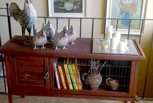 Antigua conejera reconvertido en mueble auxiliar
