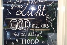 glas tekening christelijke tekst